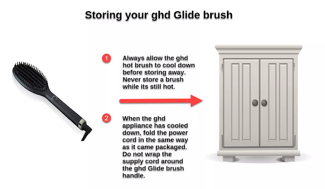 How to store your ghd Glide brush