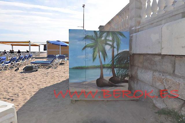 Mural caseta playa Bassa Rodona Sitges