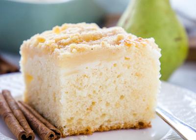 PEAR STREUSEL CAKE #cake