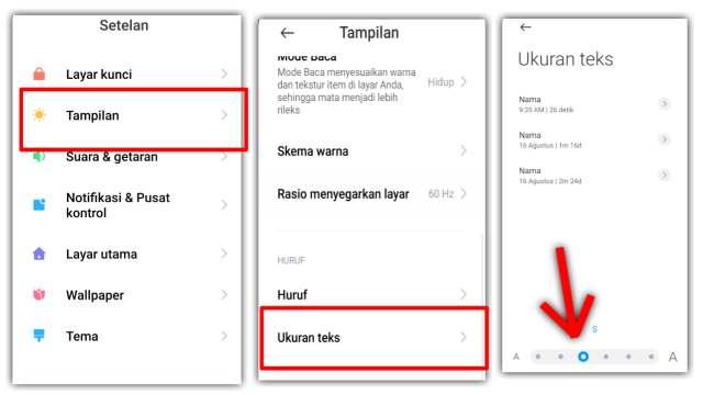 Cara mengubah ukuran teks atau font poco