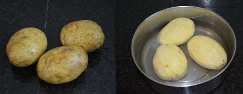 potatoes peeled