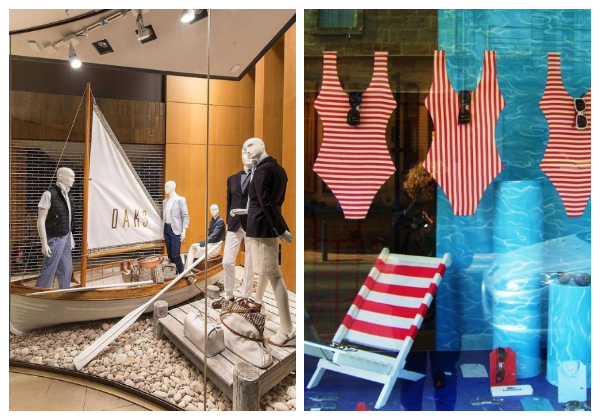 SUMMER STORES WINDOW DISPLAYS