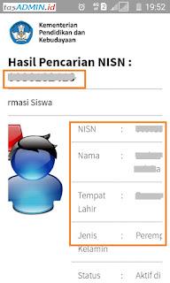 Hasil Pencarian NISN