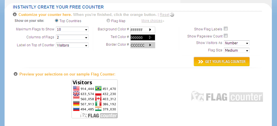How to add country wise hit counter with flag on my blog or
