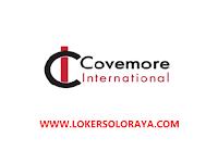 Loker Sukoharjo Juni 2021 di PT Covemore International Indonesia