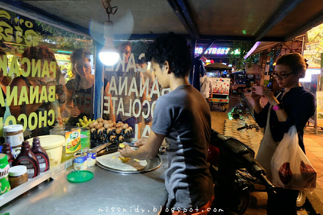 banana pancake at night market siem reap