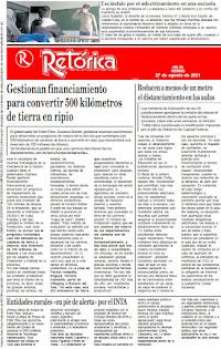 EDICIÓN IMPRESA DE RETÓRICA DEL 27-8-2021