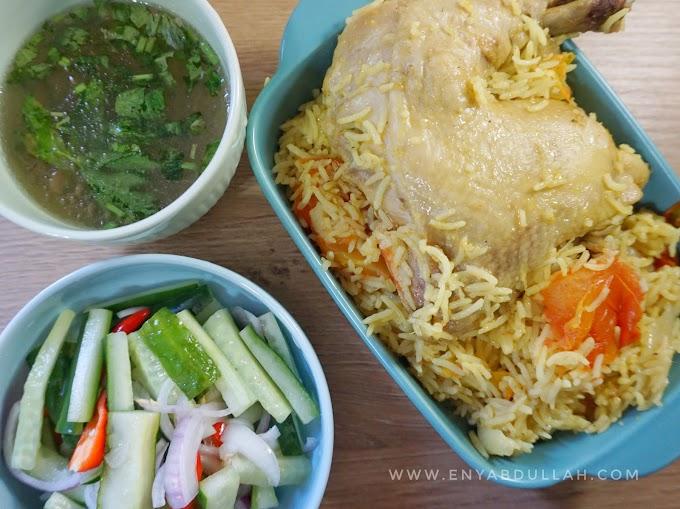 Nasi Arab Mudah Guna Rice Cooker Je