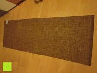 Erfahrungsbericht: Jute-Yogamatte »Sampati Jute« / High Quality Matte aus hochwertigen Jutefasern und ECO-PVC. Atmungsaktiv, schadstofffrei und sehr robust. Ideal für häufige Yogaübungen. Maße: 183 x 61 x 0,5cm, in verschiedenen Farben erhältlich