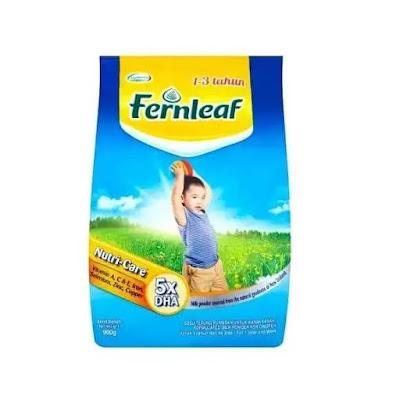 susu fernleaf untuk 1 hingga 3 tahun