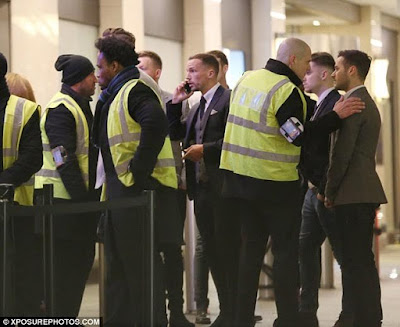 Bouncers stop Leicester players from Mayfair drama club.