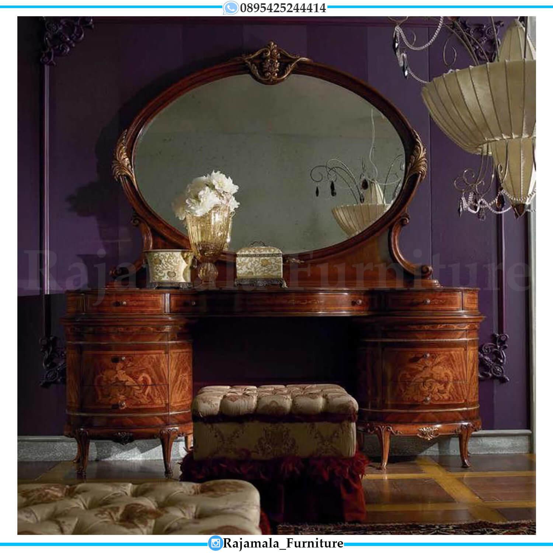 Meja Rias Mewah Terbaru Jati Natural Luxury Marquetry Style RM-0481