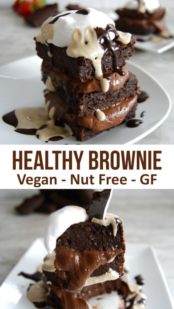 Ultimate Healthy Chocolate Brownie Recipes #dessert #healthy #chocolate #brownie
