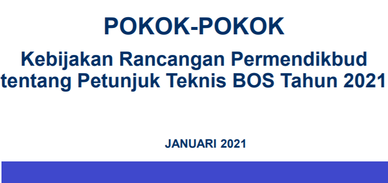 gambar permendikbud juknis bos 2021