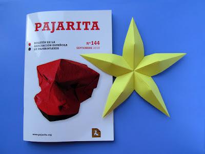 Rivista. Pajarita n° 144 e Stella convessa - Convex star © by Francesco Guarnieri