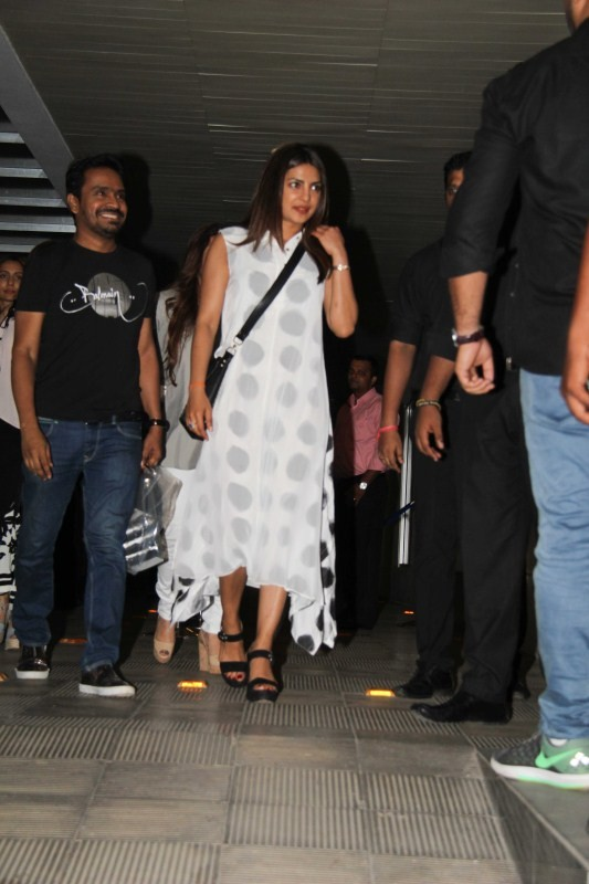 Priyanka Chopra Spotted with Family and Friends at Hakkasan