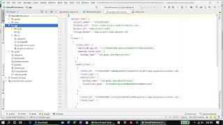 Peletakan file konfigurasi google-services.json