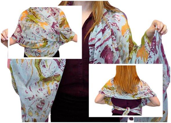 kimonos con pañuelos, moda femenina, de pañuelos a prendas, bricomoda