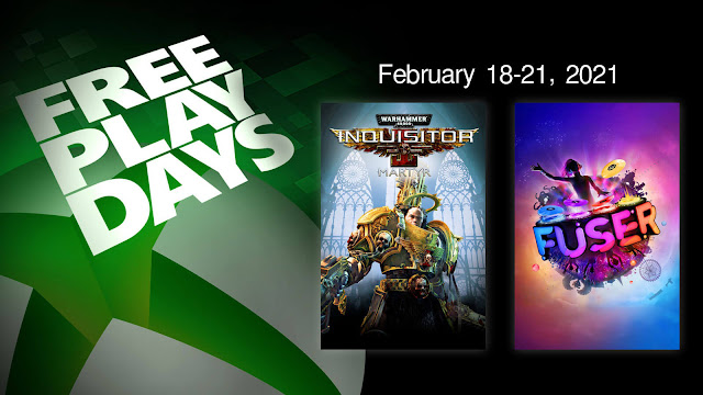 fuser warhammer 40k inquisitor martyr xbox live gold free play days event