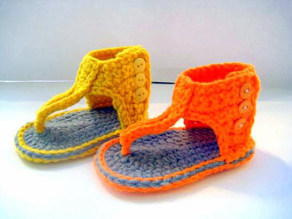 baby booties sandals Crochet pattern