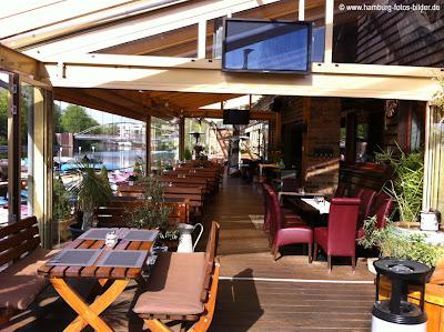 Restaurant Zur Gondel Hamburg, Blick in den Wintergarten