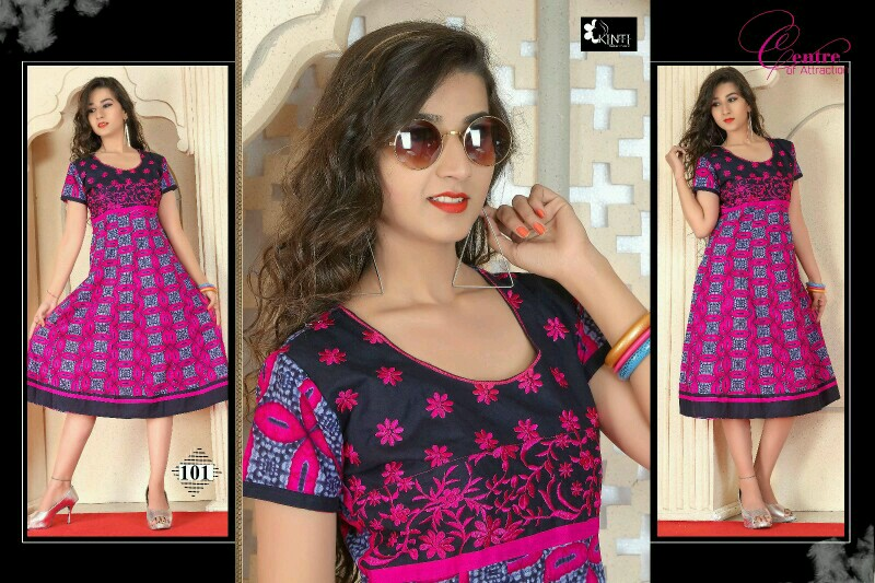 Khushika – Designer New Anarkali Cotton Cambric Printed Kurti