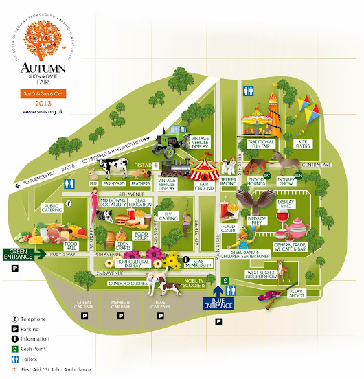 Showground Map Design