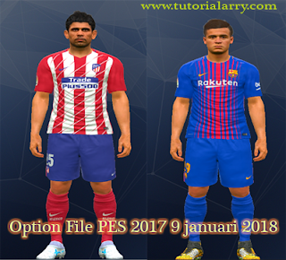 Option File PTE PATCH 6.0/1 PES 2017 Transfer 9 Januari 2018