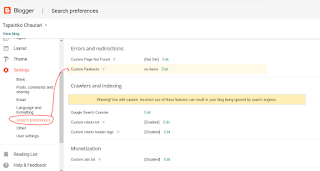 Go to setting, search preferences, custom redirects and solve URL problem