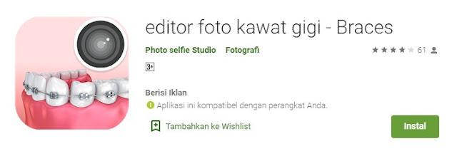 Aplikasi Edit Behel Gigi Android