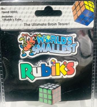 World's Smallest Rubik's Cube in packaging