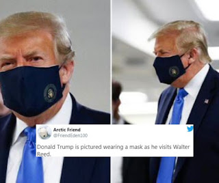 Trump wear mask