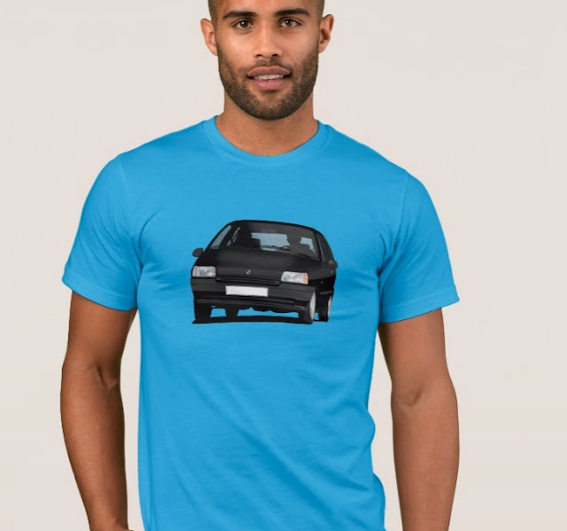 Renault Clio 90's t-paita musta