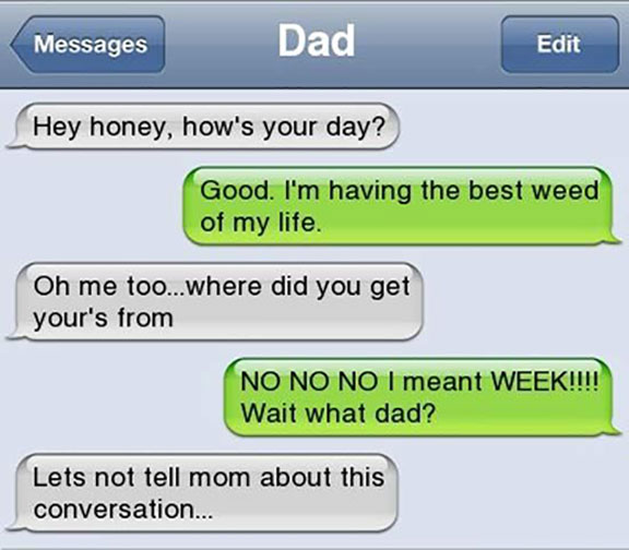 Funny Text Messages from Parents