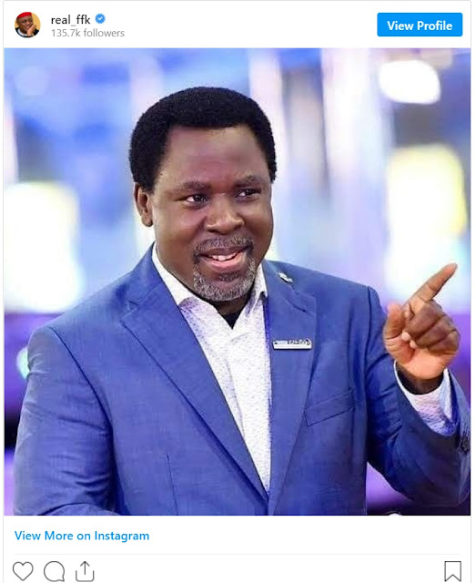 I Watched Video Of TB Joshua Healing Thousands of COVID-19 Patients Via Satellite - Nigerian Politician Confesses