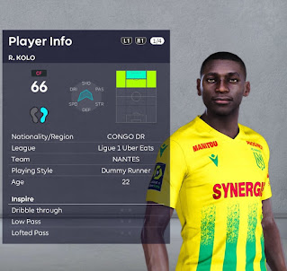 PES 2021 Faces Randal Kolo