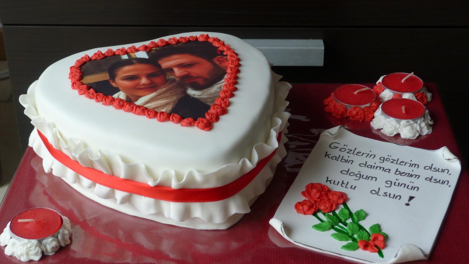 liefdes taart bestellen Cake Design by Pastanur: Foto taart / Resimli kalp pasta liefdes taart bestellen
