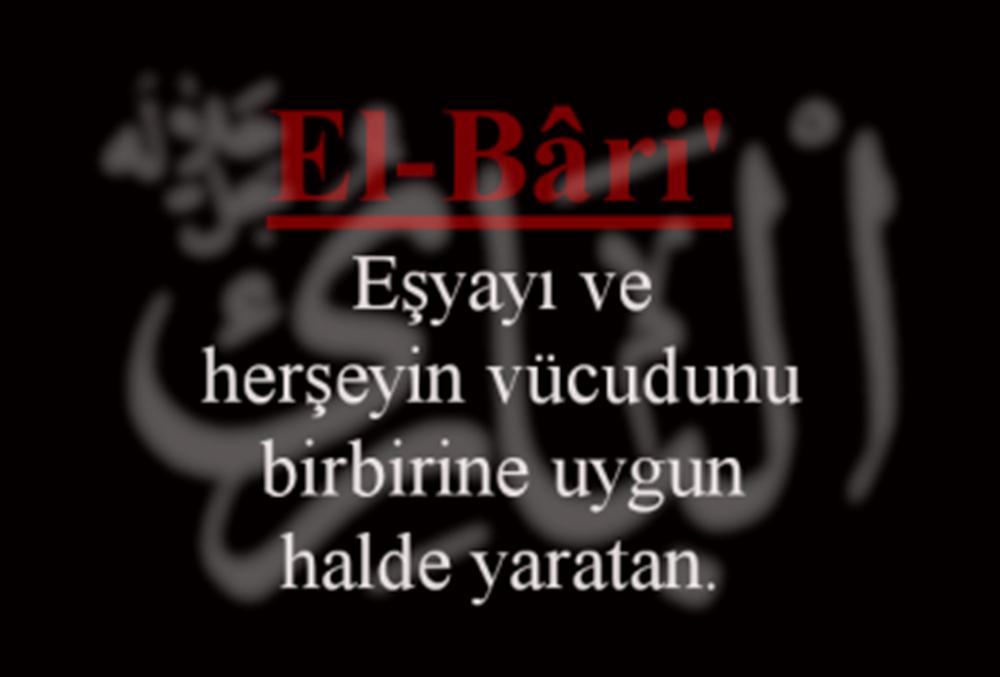 el-Bari Esmasının Zikri, Anlamı, Fazileti ve Duası