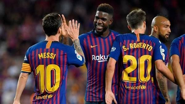 تشكيل برشلونة ضد ليفانتى عبر سوفت سلاش