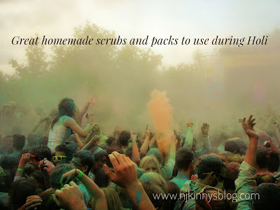 Great homemade scrubs and packs to use during Holi