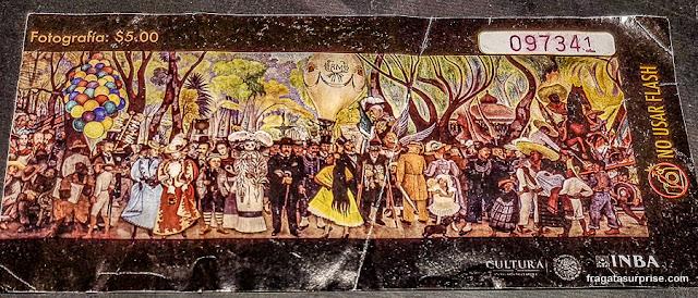 Permissão para fotografar o Museu Mural Diego Rivera, Cidade do México