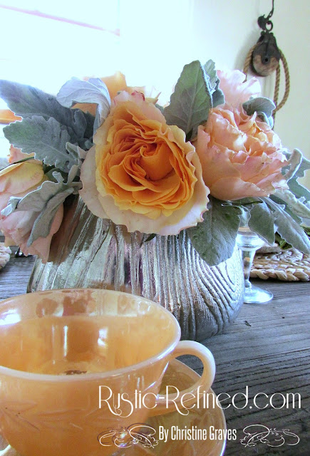 Breakfast Tablescape with Rustic Style