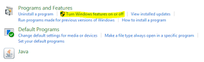 Pillh turn windows features on or off