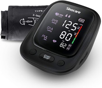50% OFF 💕 Sinocare Blood Pressure Monitor with Large Cuff 22-42 cm (Black)