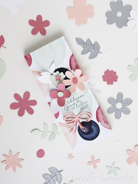 Stampin Up Verpackung mit Perforierten Blumen