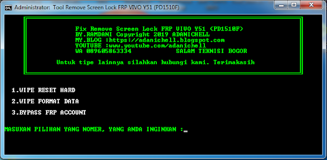 File Screen Lock FRP Account Vivo Y51 (PD1510F)