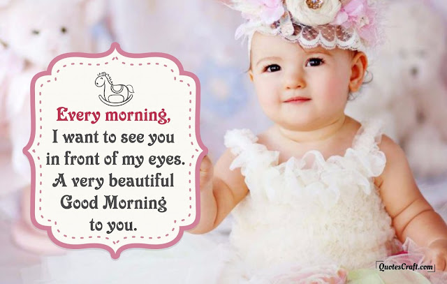 cute baby good morning image download