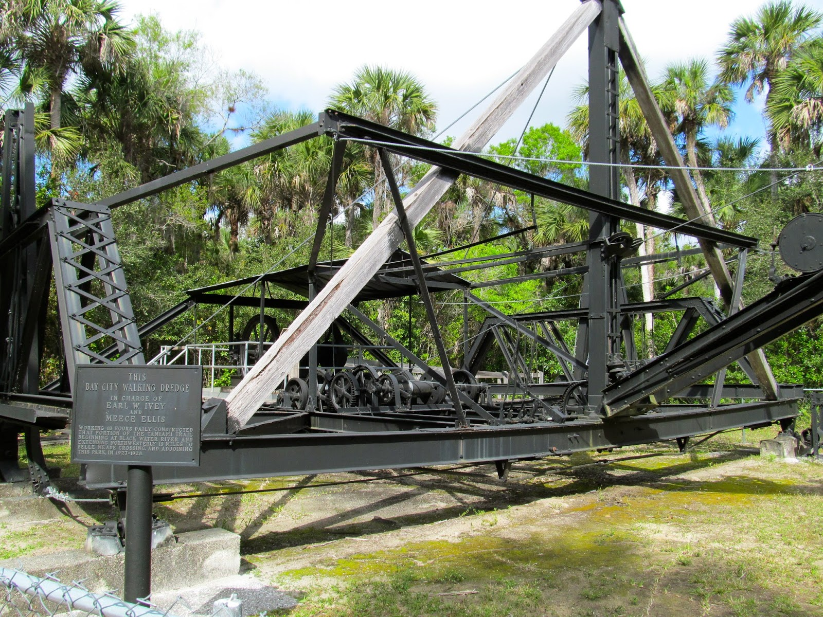 Bay City Walking Dredge at Collier-Seminole State Park, Naples, FL