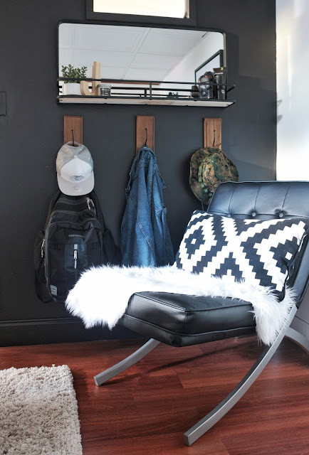 Teen Boy Bedroom reveal-Dax accent chair