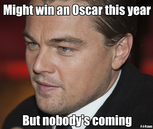 Funny Leonard DiCaprio Oscar Fail Joke Picture